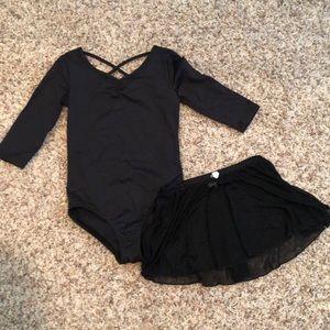 Danskin Now dance leotard and skirt 6/6X